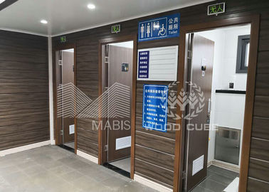 Convenient Prefabricated Modular Toilets , Q550 Standard Steel Luxury Mobile Toilets