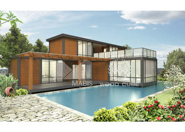 Nice Design Prefab Modular Homes Galvanized Steel Structure 2 Floors Dwelling