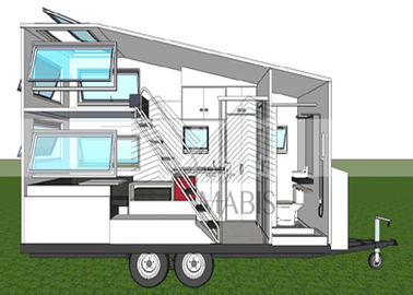 Fireproof Material Prefab Mobile Homes , Premade Mobile Homes 50 Years Lifetime