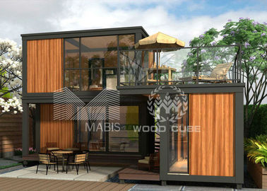 Prefabricated Container Coffee Shop Light Steel Structure Long Life Time